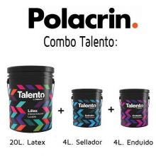 Combo Talento Polacrin Enduido 4l + Latex 20l + Sellador 4l