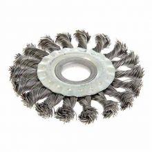 Cepillo Circular Conico 100mm Acero Retorcido Mota