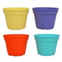 Maceta Plastica D/colores Holanda 12cm Bulto X 12 Unidades
